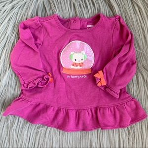 Gymboree Infant Baby Girl Pink Fun Long Sleeve Top